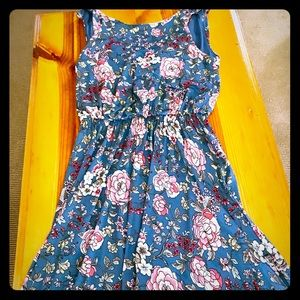 Colorful Cotton Sleeveless Scooped Back Sundress